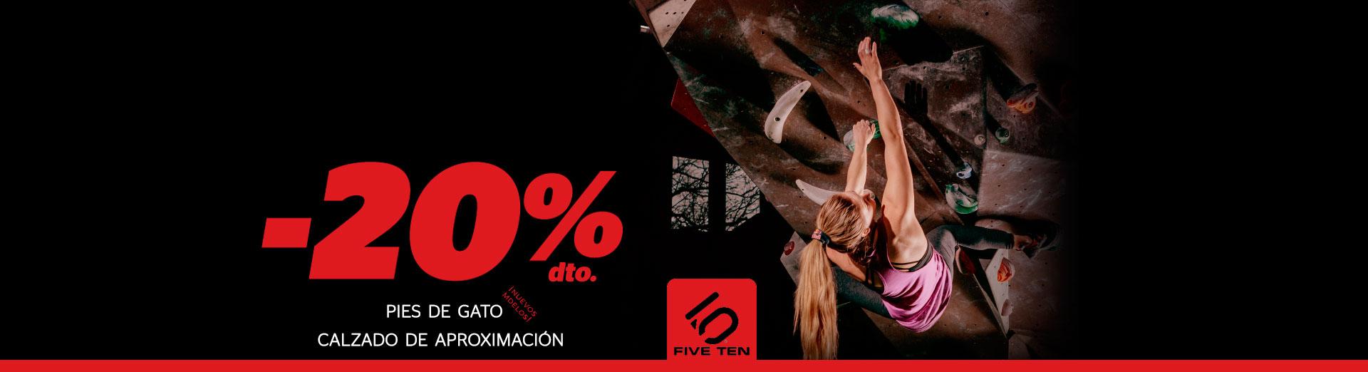 CALZADO FIVE TEN AL 20% DE DESCUENTO