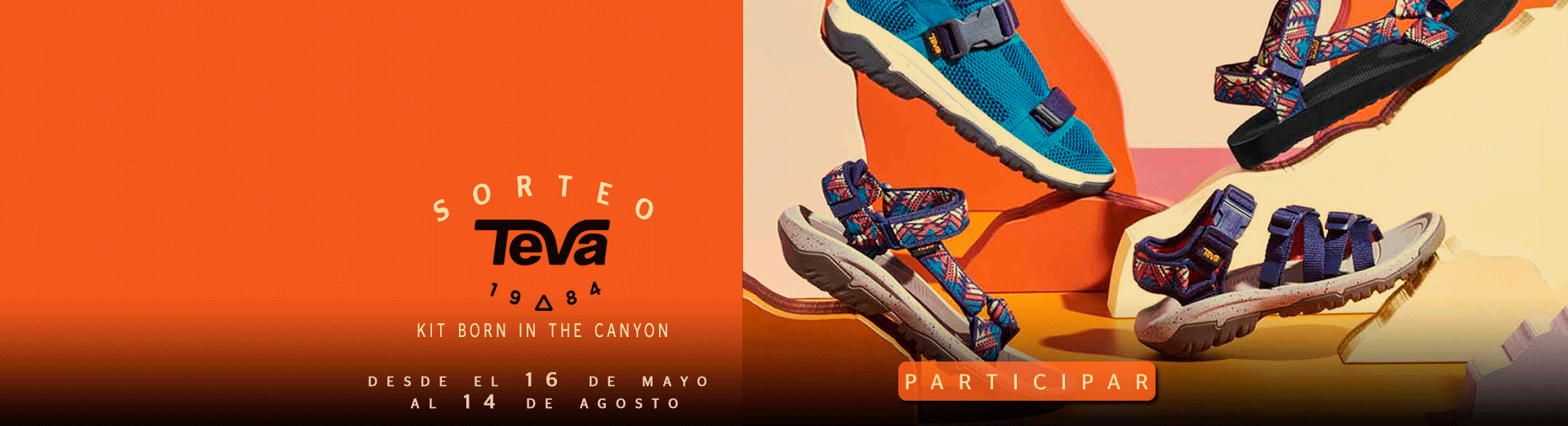 "SORTEO TEVA ""KIT BORN IN THE CANYON"""