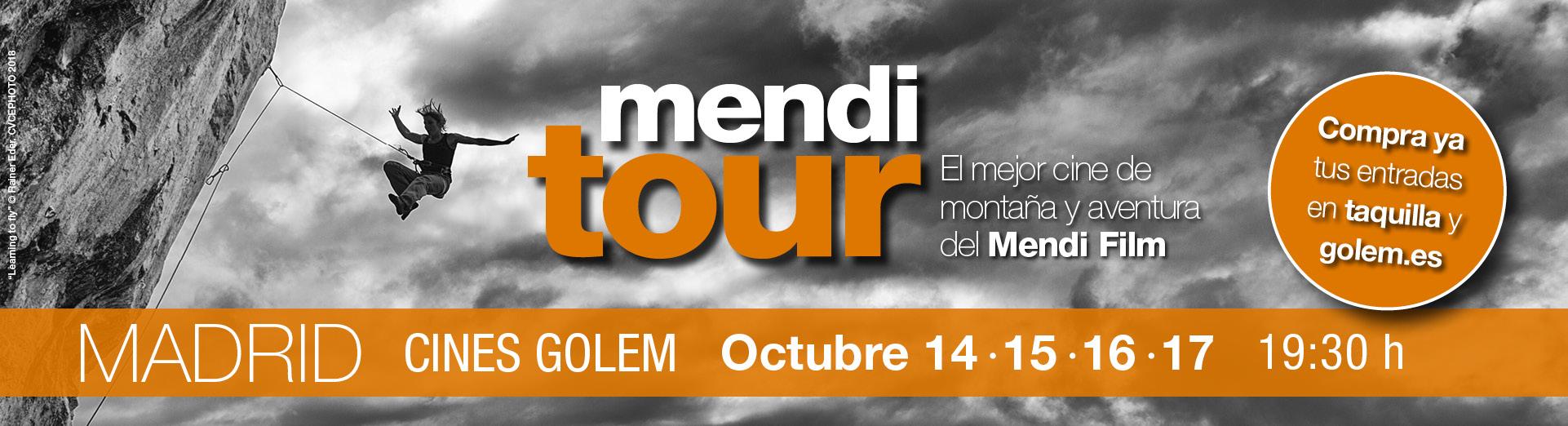 SORTEO: ENTRADAS PARA FESTIVAL DE CINE DE MONTAÑA MENDI TOUR - GRATIS