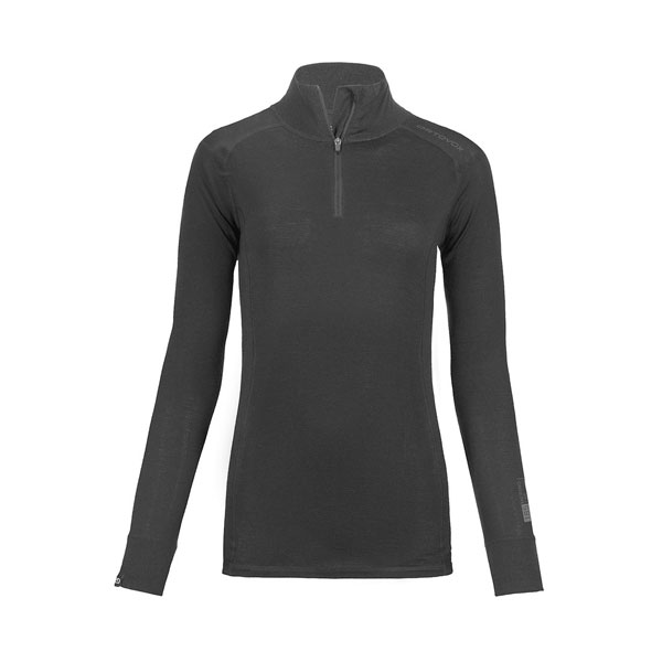 W LONG SLEEVE ZIP NECK - ORTOVOX
