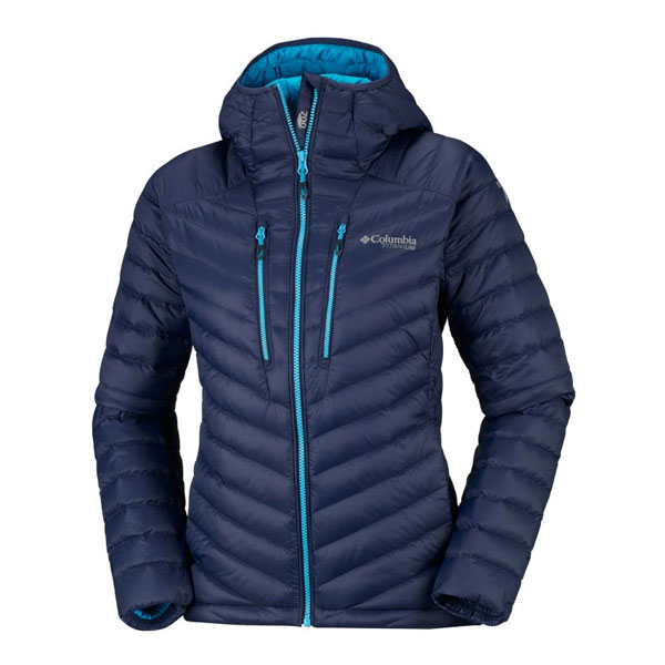 W ALTITUDE TRACKER HOODED - COLUMBIA