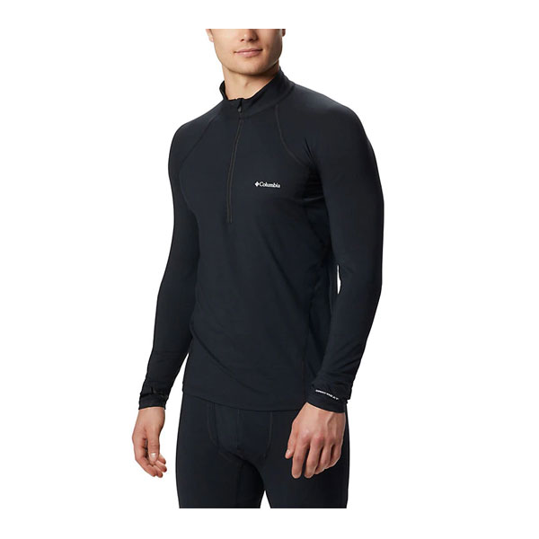 MIDWEIGHT STRETCH ZIP L/S - COLUMBIA
