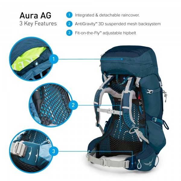 OSPREY AURA AG 65 S