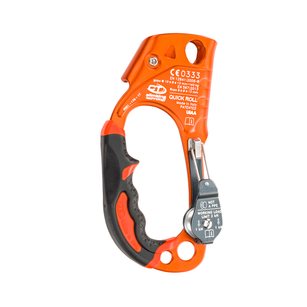CLIMBING TECHNOLOGY QUICK ROLL ASCENDER + PULLEY - Naranja